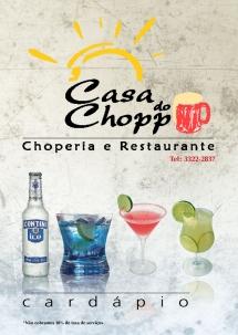 Cardápio Casa do Chopp