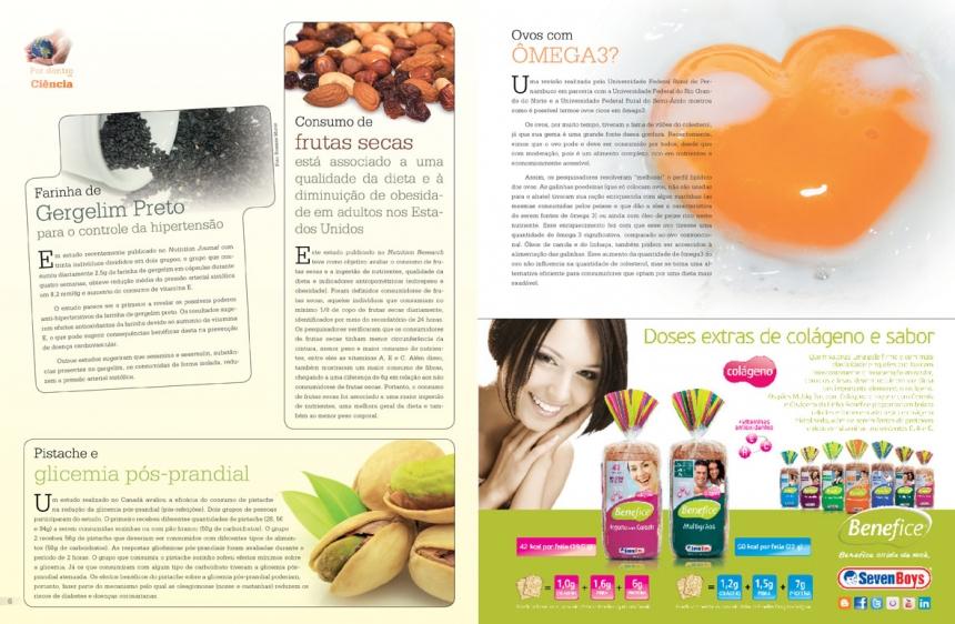 Projeto gráfico para Revista Nutrir Mais